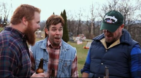 This movie LITERALLY features the main characters getting drunk in a graveyard (dotcom